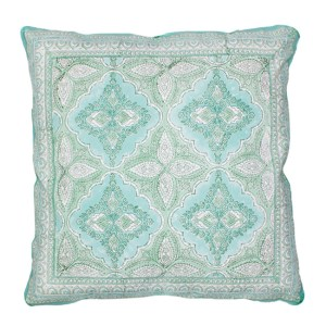French Country Cushion BOHO GREEN Filled 45x45cm inc Insert New