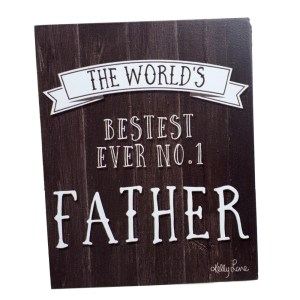 French Country Wood DAD WORLDS BESTEST Fathers Day Signs New