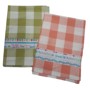 Country Style New Tea Towels Set of 2 MY HAPPY PLACE Teatowels New