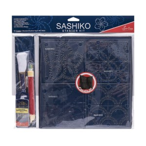 Quilting Patchwork Sewing SASHIKO STARTER KIT Templates and Cloth New