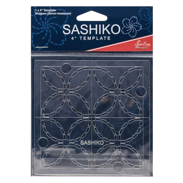 """Quilting Patchwork Sewing SASHIKO SEVEN TREASURES Template 4"""" New"""