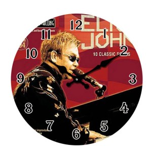 French Country Chic Retro Inspired Wall Clock 17cm ELTON JOHN New