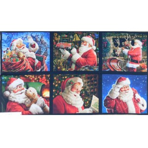 Patchwork Quilting Sewing Fabric JOLLY SAINT NICK Panel 60x110cm New