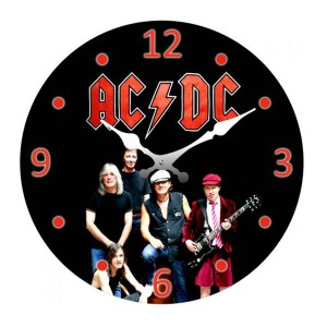 French Country Chic Retro Celebrity Inspired Wall Clock 17cm ACDC New