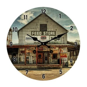 French Country Chic Retro Inspired Wall Clock 17cm FEED STORE New