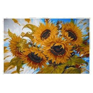 Collection D'Art Printed Tapestry Needlepoint SUNFLOWERS New