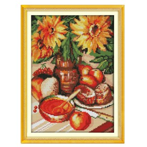 Cross Stitch Kit AFTERNOON TEA X Stitch Joy Sunday Designs Incl Threads New
