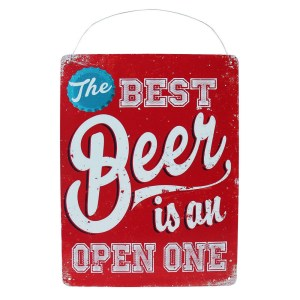 Country Tin Sign Vintage Look Wall Art THE BEST BEER Plaque New