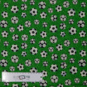 Quilting Patchwork Sewing Fabric SOCCER FOOTBALL 50x55cm FQ New Material