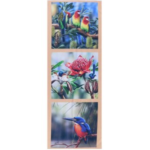 Patchwork Quilting Sewing Fabric AUSSIE ROSELLA KINGFISHER WRENS Panel 41x110cm New