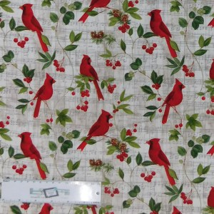 Quilting Patchwork Sewing Fabric RED CARDINAL 50x55cm FQ New