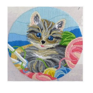 Country Threads Long Stitch Kit KNITTIN KITTEN FLS-5006 Inc Threads New