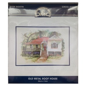DMC Cross Stitch Kit OLD METAL ROOF HOUSE Olga Gostin OG005 New