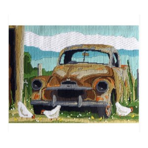 Country Threads Long Stitch Kit RUSTY OLD CAR FLS-5021 Inc Threads New