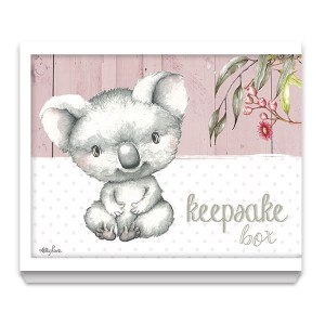 French Country Wooden Keepsake Box BABY JOEY Koala with Lid New