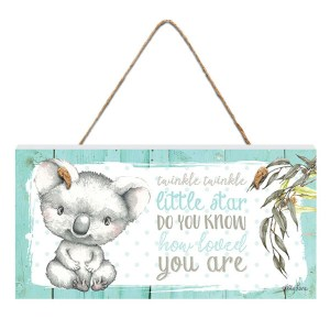French Country Inspired Wall Art BABY JOEY Koala Twinkle Little Star Wooden Sign New