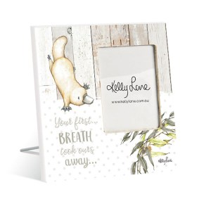 French Country Vintage Inspired Photo Frame BABY JOEY Platypus Breath Away 20x20cm New
