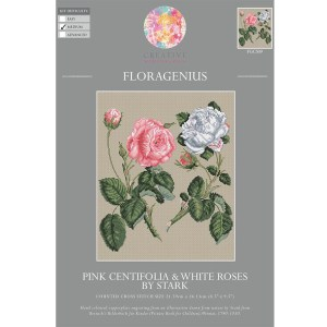 My Cross Stitch FLORAGENIUS PINK CENTIFOLIA ROSE Kit New 057141