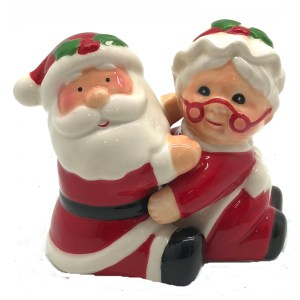 French Country Novelty SANTA and MRS CLAUS Salt and Pepper Set New