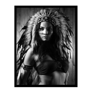 Stretched Canvas Print Large WARRIOR WOMAN Print 104x74cm New