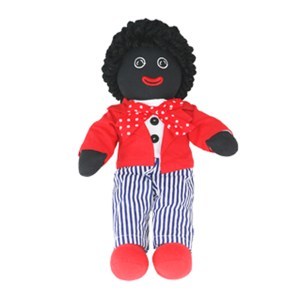 Lovely Soft Rag Doll GERRY Red Jacket Boy Doll 35cm New