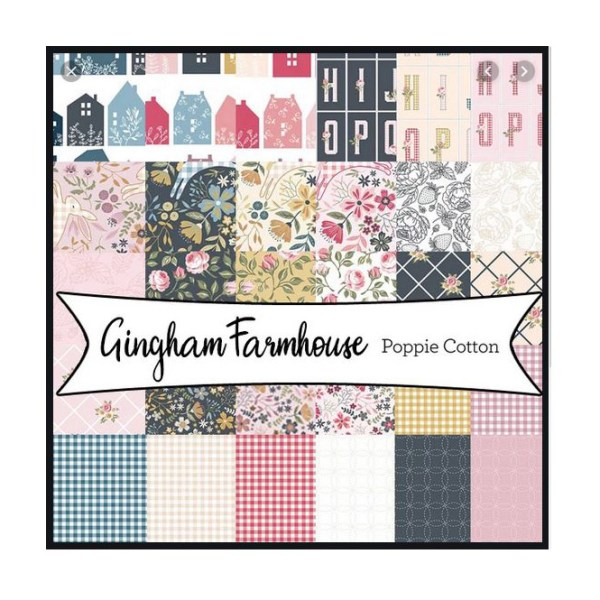 Quilting LAYER CAKE Patchwork GINGHAM FARMHOUSE 10 Inch Fabrics New