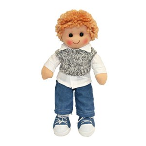 Lovely Soft Rag Doll HARRY Blue Jeans Boy Doll 35cm New