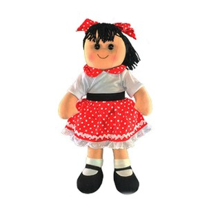 Lovely Soft Rag Doll LAYLA Rock n Roll Girl Doll 35cm New