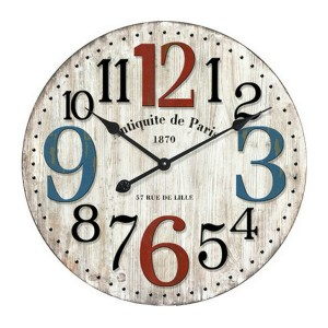 Clocks French Country Vintage Wall Hanging 29cm ANTIQUITE DE PARIS New