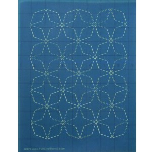 Quilting Full Line Stencil SASHIKO 7 TREASURES Reusable A4 use with Pounce