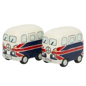 French Country Collectable Novelty Kitchen UK KOMBIE CAMPERS Salt and Pepper Set