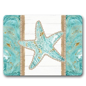 Kitchen Cork Backed Placemats AND Coasters REEF STARFISH Set 6 New