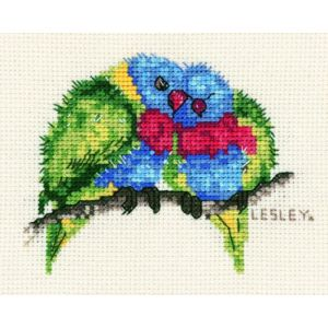 DMC Cross Stitch Kit Including Thread and Aida RAINBOW LORIKEET New 582110