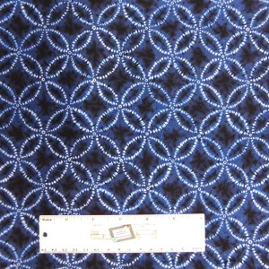 Quilting Patchwork Sewing Fabric Japanese SHIBORI DARK BLUE 50x55cm FQ New Material
