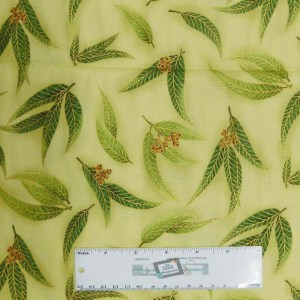 Quilting Patchwork Sewing Fabric GREEN GUM LEAVES 50x55cm FQ New Material