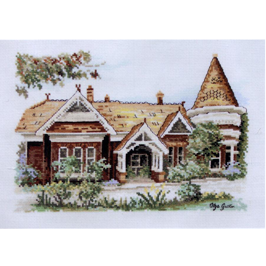 Art Nouveau Terrace cross stitch kit designed by Olga Gostin for DMC