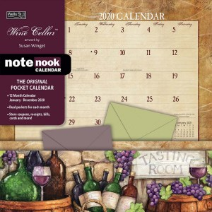 2020 Wells Street by Lang NOTE NOOK Calendar WINE CELLAR New