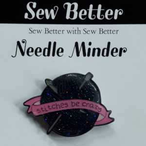 Sew Better Cross Stitch Embroidery Needle Minder Keeper STITCHES BE CRAZY