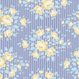Quilting Patchwork Sewing Fabric TILDA HAPPY CAMPER MARYLOU BLUE 50x55cm FQ