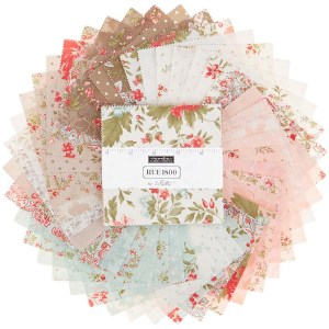 Quilting Charm Pack Patchwork MODA RUE 1800 5 Inch Sewing Fabrics