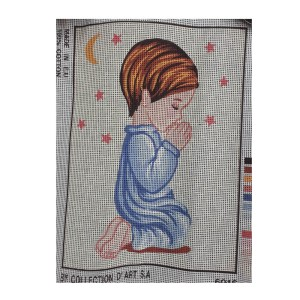 Collection D'Art Printed Tapestry Needlepoint BOY PRAYING 22x30cm