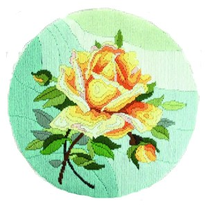 Country Threads Long Stitch Kit YELLOW ROSE FLS-5001 Inc Threads