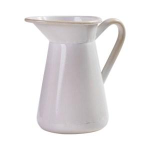 Famhouse Metal Enamel Retro Kitchen Jug, Utensils or Vase