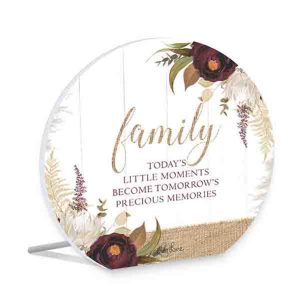 French Country Wooden Sign Natives FAMILY MEMORIES Plaque