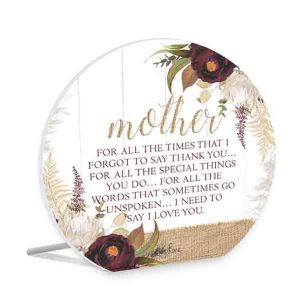 French Country Wooden Sign Natives MOTHER THANK YOU Plaque