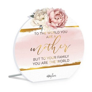 French Country Wooden Sign Mothers Day MOTHER FAMILY WORLD Plaque