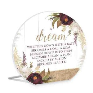 French Country Wooden Sign Natives DREAM REALITY Plaque