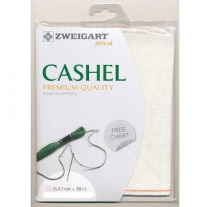 Cross Stitch Embroidery Cloth 28 Count ZWEIGART CASHEL LINEN WHITE 34x48cm Fabric