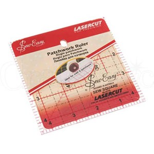 Quilting Patchwork Sewing Template SMALL SQUARE 4.5x4.5 Inch Sew Easy NL4176