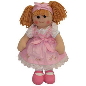 Hopscotch Lovely Soft Rag Doll AVA Girl Dressed Doll Large 35cm